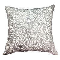 Embroidered Medallion Throw Pillow