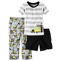 Boys 4-8 Carter's Construction 3-Piece Pajama Set