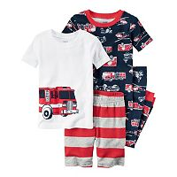Boys 4-8 Carter's Fire Truck 4-Piece Pajama Set