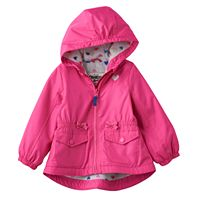 Baby Girl Carter's Hooded Midweight Bow Jacket