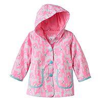 Toddler Girl Carter's Lightweight Pattern Rain Jacket