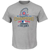 Men's Majestic Chicago Cubs 2016 World Series Champions Locker Room Tee