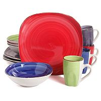 Gibson Home Color Vibes 12-pc. Soft Square Dinnerware Set
