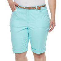 Plus Size Gloria Vanderbilt Rachel Twill Bermuda Shorts