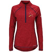 Women's Majestic St. Louis Cardinals Don't Stop Trying Pullover