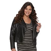 Maternity a:glow Faux-Leather Moto Jacket