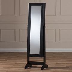 Baxton Studio Alena Floor Mirror & Jewelry Armoire  by
