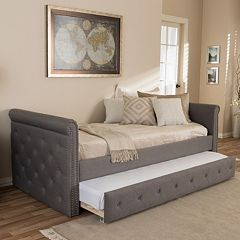 Baxton Studio Swanson Twin Day Bed & Trundle by