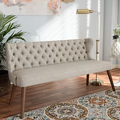 Baxton Studio Scarlett Mid-Century Modern Button Tufted Sofa  by