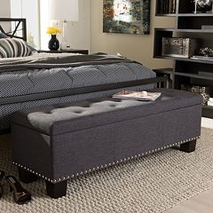 Baxton Studio Hannah Contemporary Storage Ottoman Bench by