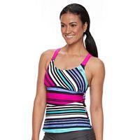 Women's ZeroXposur Striped Wide Strap Tankini Top