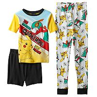 Boys 4-10 Pokemon 3-Piece Pajama Set