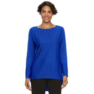 Women's Dana Buchman Striped Jacquard Scoopneck Top