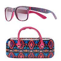 Girls SO® Retro Square Sunglasses & Hard Case Set