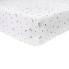 Burt's Bees Baby Organic Butterfly Garden Fitted Crib Sheet by