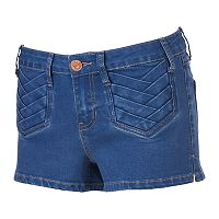 Juniors' Rampage Chloe Curvy Denim Shortie Shorts