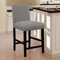Linon Manor Upholstered Counter Stool