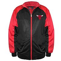 Big & Tall Majestic Chicago Bulls Back Track Tricot Jacket