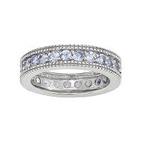 Sterling Silver Tanzanite Eternity Ring