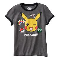 Girls 7-16 Pokémon Pikachu Patches Graphic Tee