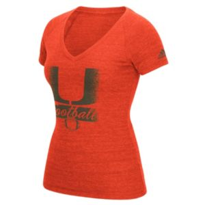 Women's adidas Miami Hurricanes Football Tee