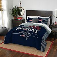 New EnglandPatriots Draft Full/Queen Comforter Set by Northwest