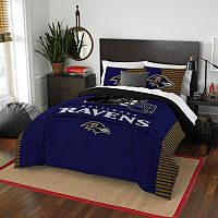 Baltimore Ravens Draft Full/Queen Comforter Set by Northwest