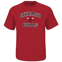 Big & Tall Majestic Chicago Bulls Heart and Soul II Tee