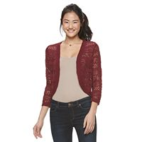 Juniors' Cloud Chaser Open-Front Shrug