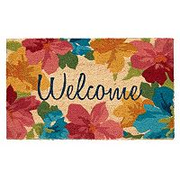 Mohawk® Home Floral Garden ''Welcome'' Coir Doormat - 18'' x 30''