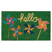 Mohawk® Home ''Hello'' Pinwheels Coir Doormat - 18'' x 30''
