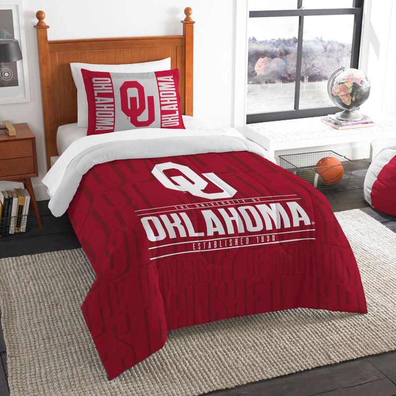 Oklahoma Sooners Modern Take Twin Comforter Set By