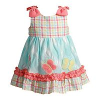 Toddler Girl Youngland Butterfly Seersucker Dress