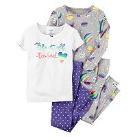 Baby Girl Carter's Graphic & Print Pajama Set