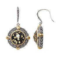 Lavish by TJM Sterling Silver Doublet Frame Drop Earrings