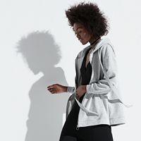 k/lab Satin-Trim Oversized Hoodie