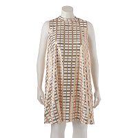 Juniors' Plus Size HeartSoul Sequin Shift Dress