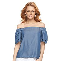 Women's Apt. 9® Chambray Off-the-Shoulder Top