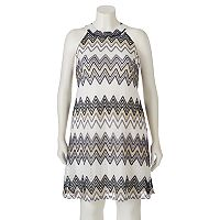 Juniors' Plus Size Candie's® Lace Halter Dress