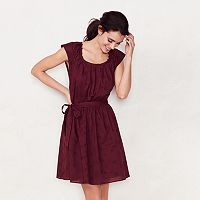 Women's LC Lauren Conrad Pleated Fit & Flare Dress