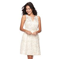 Women's Ronni Nicole Metallic Floral Fit & Flare Dress