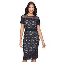 Women's Jax Scalloped Lace Sheath Dress