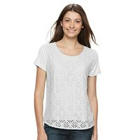 Women's Croft & Barrow® Lace Tee