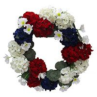 Celebrate Americana Together Faux Botanical Wreath