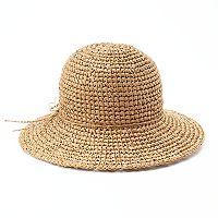 SONOMA Goods for Life™ Crocheted Straw Floppy Hat
