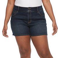 Plus Size Apt. 9® Modern Fit Jean Shorts