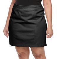 Plus Size Croft & Barrow® Seamed-Waist Polished Skort