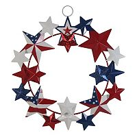 Celebrate Americana Together Iron Metal Multi Stars Wreath