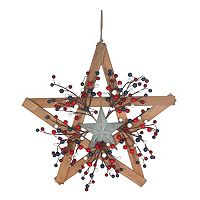 Celebrate Americana Together Wood Star Led Wall Decor