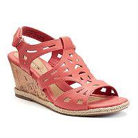 Croft & Barrow® Women's Ortholite Cork-Patterned Wedge Sandals